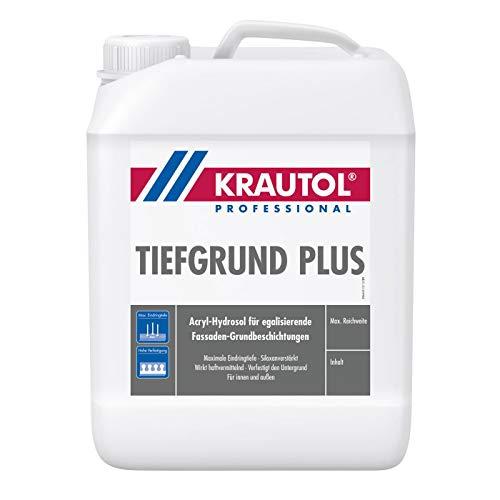Krautol Tiefgrund plus Acryl Hydrosol blau, Grundierung für innen & aussen, 5 Liter Kanister