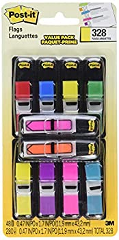 Post-it Flags Value Count Assorted Colors 280+48 Bonus Arrow Flags  683-VAD1  Packaging may vary