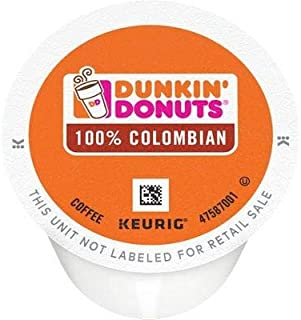 Dunkin Donuts 64 Count 100% Colombian Coffee Keurig K-Cup Pods