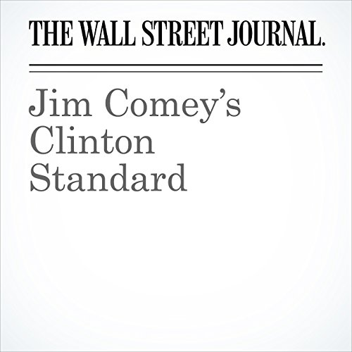 Jim Comey's Clinton Standard cover art