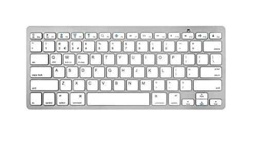 Bluetooth 3.0 Keyboard-Toetsenbord voor Smart TV/PC / PS4 / iPad/Tablet/Smartphone Wit