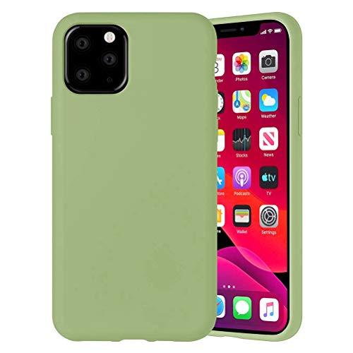 Yoedge Color Sólido Funda para Xiaomi Mi A2 Lite/Xiaomi Redmi 6 Pro 5.84″ Sencillez Carcasa de Silicona Case Protectora de TPU Suave Protección Cover para Xiaomi A2 Lite Teléfono Fundas,Verde Matcha