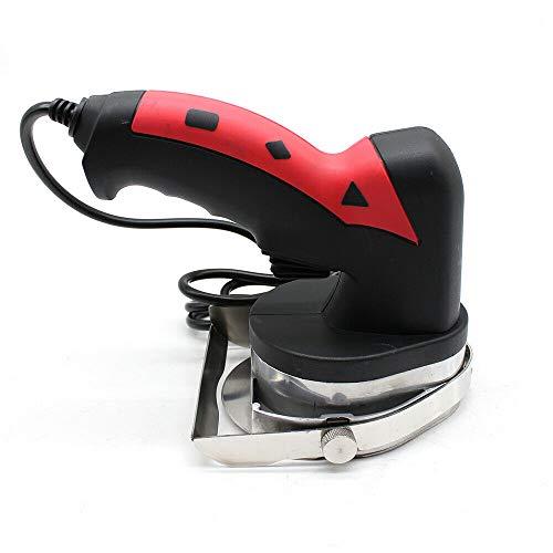 Imbiss - Coltello elettrico professionale con larghezza di taglio regolabile, per destri e mancini, coltello elettrico per il taglio di döner Kebab carni (nero + rosso)