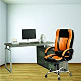 High Living High-Back Executive Office Chair | Desk Chair - Tan & Black