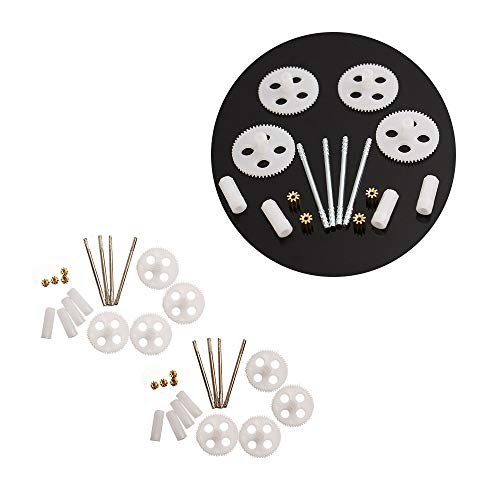 Acxico 2Set Motor Gear and Main Gear Assembly of RC Quadcopter Drone Parts Syma X5 X5C X5SC