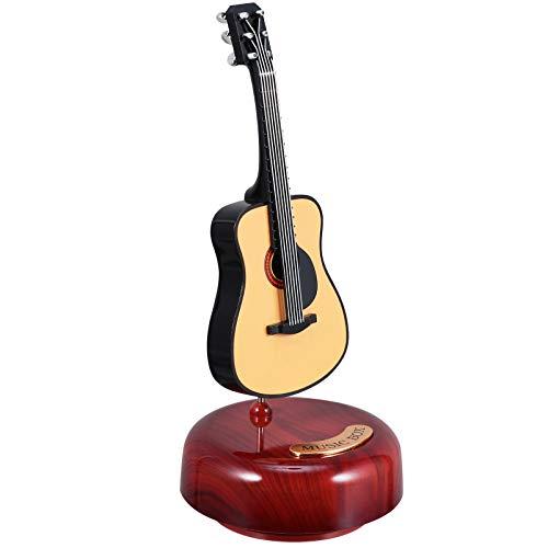 WINOMO E-Gitarre Spieluhr Rotierende Musikbasis Miniatur Musikinstrument Artware Ornamente Hauptdekorationen Kreative Geburtstag