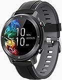 Smart Watch Fitness Tracker wasserdicht IP68 Bluetooth Runde mit Text Anruf Benachrichtigung Anzeige Schlaf Blutdruck Herzfrequenz Outdoor Sportuhr