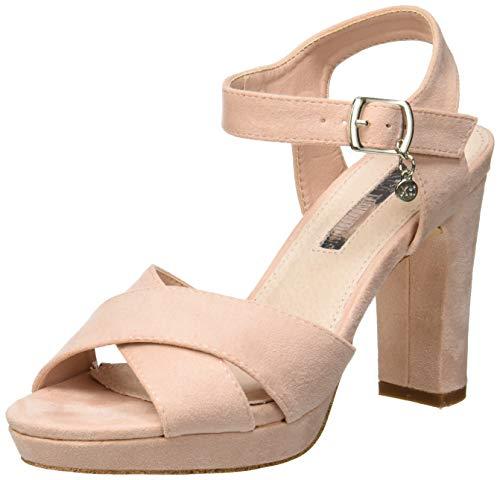 XTI 32035, Zapatos con Tira de Tobillo para Mujer, Rosa Nude, 39 EU
