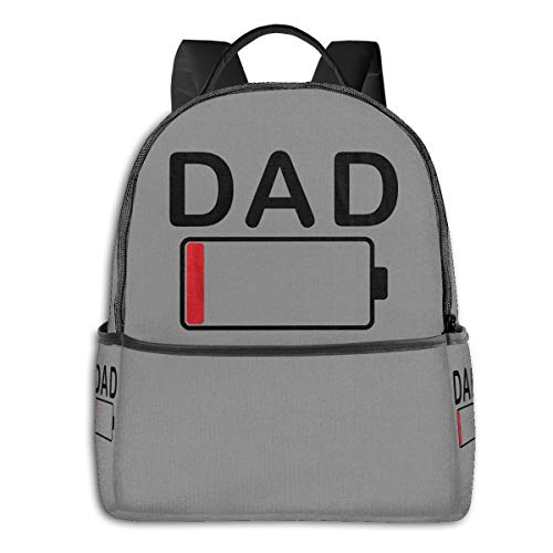 Dog Dad Father Best Funnyfashion School Backpack Unisex Classic Lightweight Backpack Printing Cute for Boys Girls High School College Schoolbag Sloth