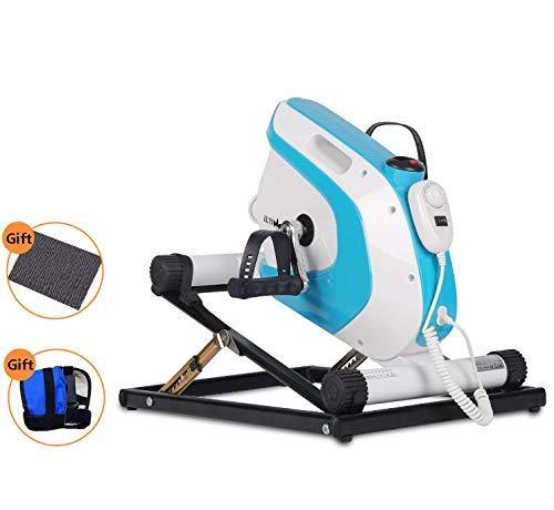 AMITD Motorisiertes Pedaltrainer,Heimtrainer Trainingsrad Mini,Armtrainer und Beintrainer,Mini Bike mit LCD-Display und Rehabilitationszubehör