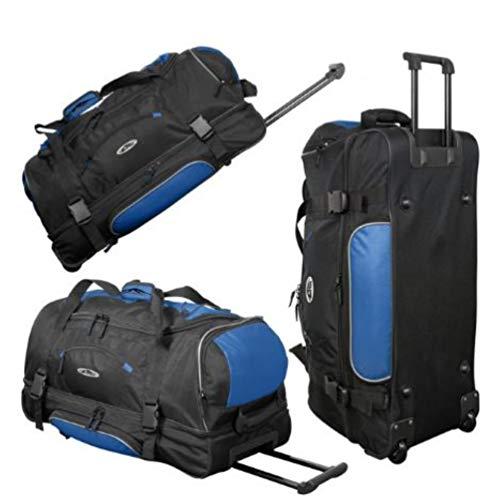 Borsone trolley da 76 cm 2,6 kg, volume: 95 litri, da viaggio e sportivo – blu