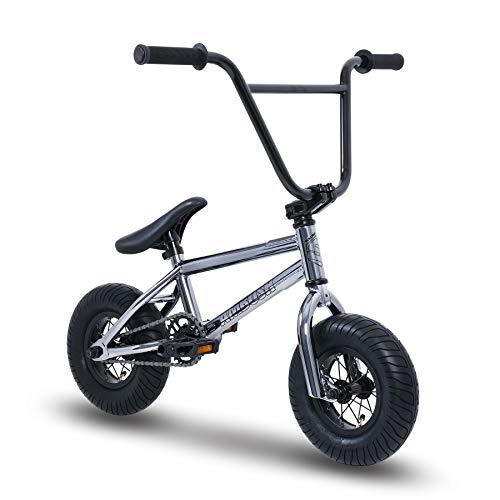 Sullivan Mini BMX Gun Metal/Black, Stunt Bike, Freestyle Mini BMX, for Kids Ages 8-16