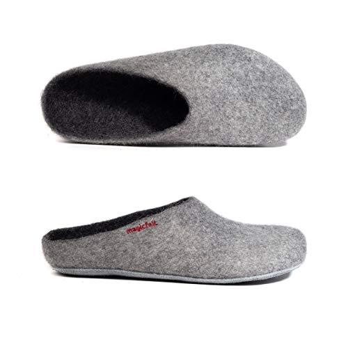 MagicFelt Unisex-Erwachsene AP-701 Pantoffeln, Grau (Light Grey 4814), 39 EU