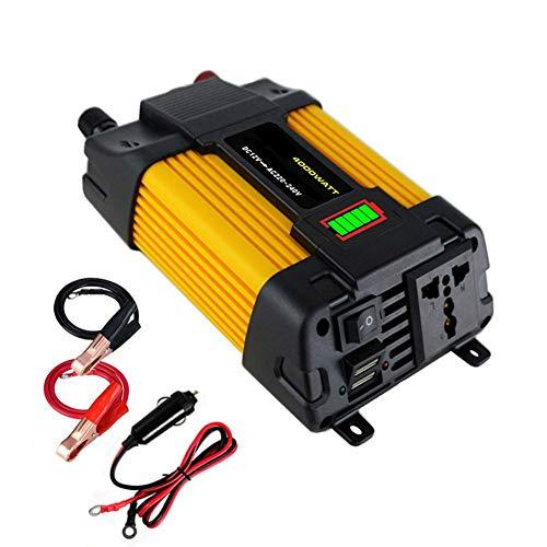 Inversor de energía 500W coche DC 12V a 220V AC convertidor con cargador de coche dual USB adaptador de pantalla LED