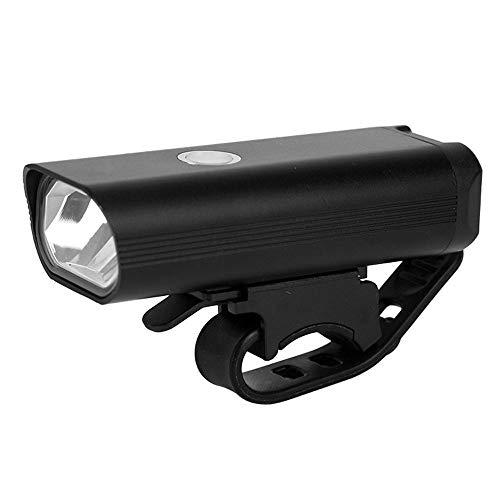 Dabeigouztoud linterna frontal, 400 lúmenes Luz de bicicleta con 3 modos, faros de carga USB compactos y duraderos, adecuados para bicicletas de carretera, montaña y cercanías