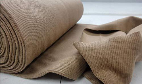 Fabrics-City% CAMEL BI-STRETCH BÜNDCHENSTOFF STRICKSCHLAUCH STOFF STOFFE, 3642