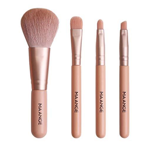 Toygogo 4pcs Pinceaux Maquillage Cosmétique Brosse Fard À Paupières Sourcils Brush Makeup