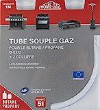Home Gaz GAZ001 Tubo de butano/propano 1m 5 años, blanco