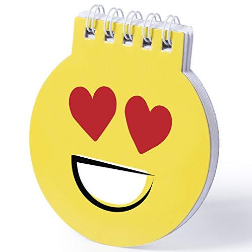 GARGOLA.ES OPERADORES DIGITALES WINLON LIBRETA DE EMOTICONOS (Lote 20 Unidades)-Cuadernos Emoji - Libretas Anillas orginales con Motivos de Emoticono niños y niñas como Detalle de cumpleaños