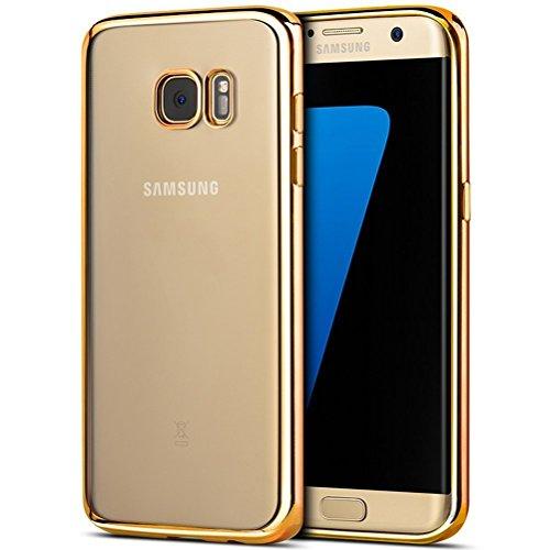 Samsung Galaxy A32016Fall (Gold) stoßfest Bumper Silikon TPU Gel Schutz Klar Gummi Soft Schutzhülle für Samsung Galaxy A32016von iPro Zubehör