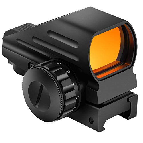 EZshoot Reflex Sight with 4 Reticles 11Brightness Setting Red Dot Sight with 20mm Rail Mount