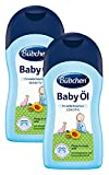 Bübchen Baby Öl,  sensitives Körperöl für zarte Babyhaut, mit Sheabutter und Sonnenblumenöl, Menge: 2 x 400 ml