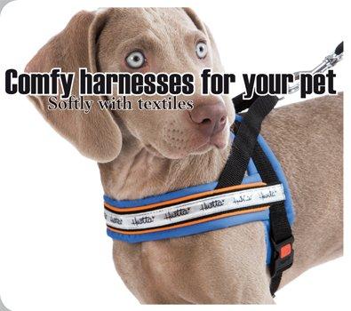 Hurtta Hundegeschirr blau mit Reflektorstreifen Gr.100cm