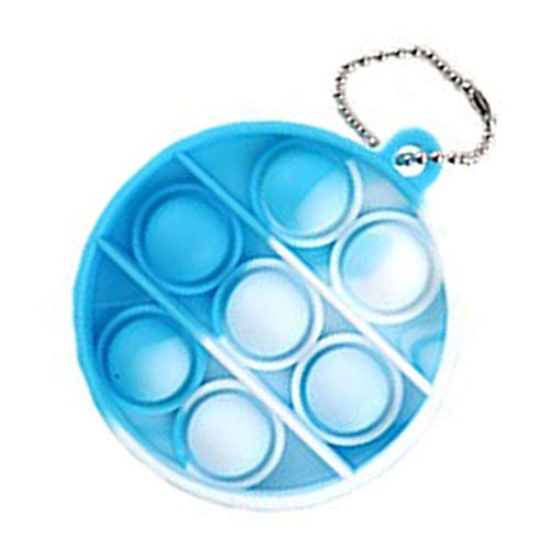 Gupgi Simple Dimple Fidget Toy Mini Stress Relief Hand Toys Keychain Toy Bubble Wrap Pop Anxiety Stress Reliever Office Desk Toy for Kids Adults (Circle CI)