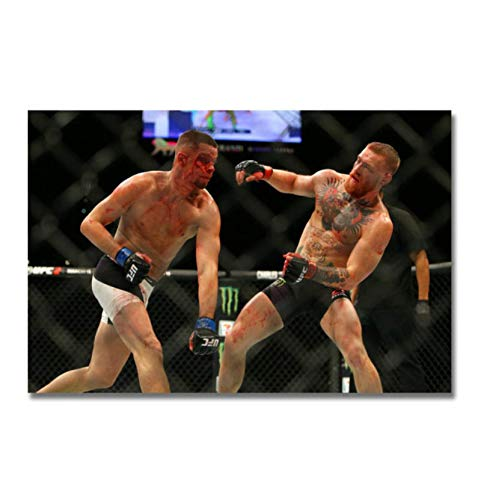 Ignite Wander Conor McGregor vs Nate Diaz Boxing Poster Canvas Paintings Decor Background Wall Murals Bedroom Study Decoration Paintings -24x36 Inch No Frame