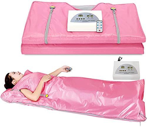 XYLUCKY Sauna Manta Manta de infrarrojo lejano Digital Calor Sauna calefacción, 2 Controlador de Zona con 50pcs plástico láminas, para Reducir el Peso Corporal Delgada Home Productos de Belleza