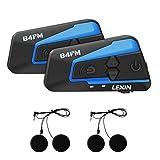 LEXIN LX-B4FM interfono moto, moto auricolare bluetooth con FM, interfono Bluetooth per moto fino a...
