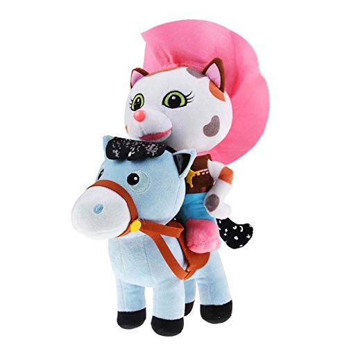 yitao Peluches 2 Unids/Lote 20 Cm Sheriff Callie Wild West Juguetes De Peluche Vaquero Callie Gato Pony Caballo Muñecos De Peluche Suaves para Regalo De Niños