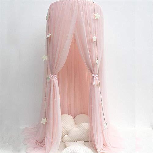 Hayandy Mosquitera Net for niños Cama de bebé Canopy Gauze Gauze Anti-Mosquito Repelente Insecto Cortina Ropa de Cama Cúpula Tienda Copa de Cama-Khaki (Color : Pink)
