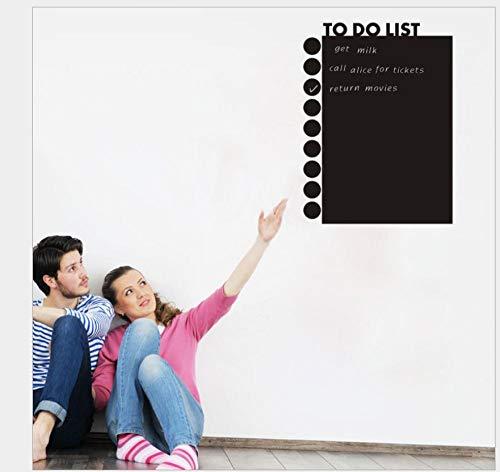 Pegatinas de pared de dormitorio pegatinas de pizarra lista de tareas pendientes salida de oficina autoadhesivo extraíble 43 * 58Cm