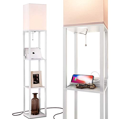 Brightech Maxwell – LED Shelf Floor Lamp.