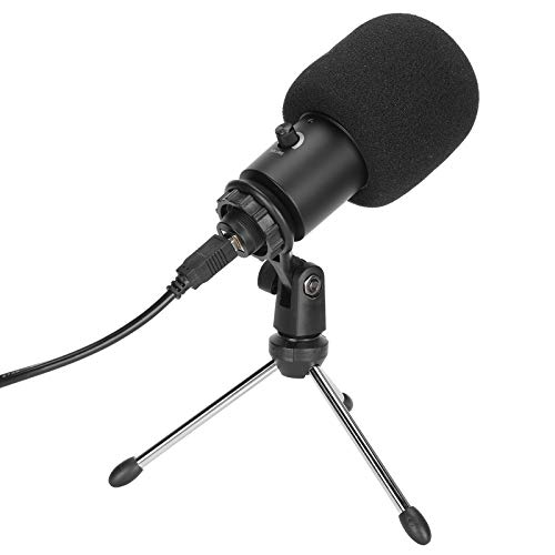 USB Condenser Microphone Laptop Drive Free Microphone Cardioid Pickup Studio Mic for YouTube, Podcasting, Voice Over, Streaming, Home Studio
