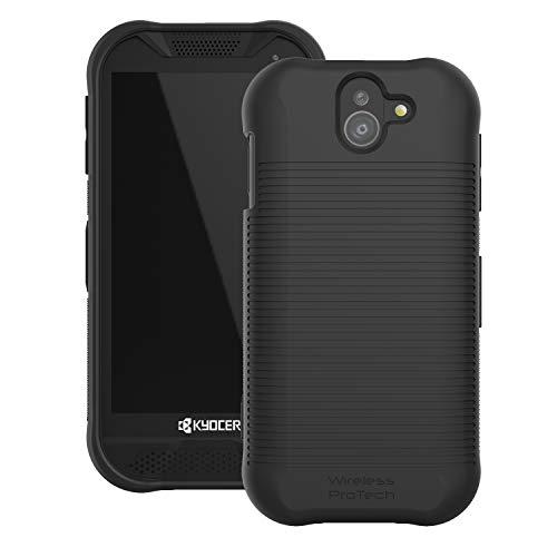 DuraForce Pro 2 Case, Flex Skin TPU Slim Line Case for Kyocera DuraForce Pro 2 by Wireless ProTECH (Black)