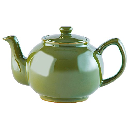 Price & Kensington - Teekanne mit Deckel - Farbe: Olive Grün - typisch englische Teekanne - 6 Tassen