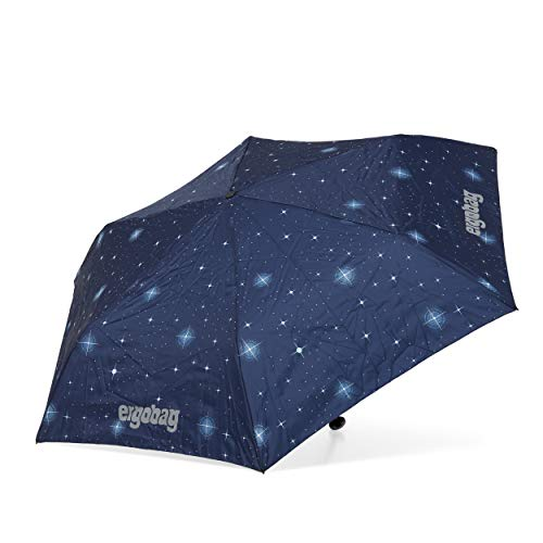 ergobag Regenschirm Schultaschenschirm für Kinder, extra leicht mit Tasche, Ø90cm - KoBärnikus, Blau