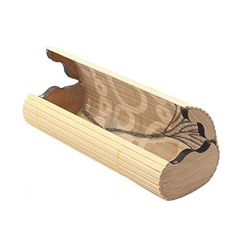 Boner Houten brillenkist Niet-absorberend bamboe Houten zonnebrillenkoffer Draagbare vintage handgemaakte brillenkoker