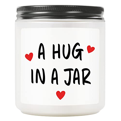 TASRUIMI Thinking of You Gifts for Women, Funny Lavender Scented Candles, Inspirational Gift, Encouragement Gift,Sympathy Gift, Long Distance Gift,Get Well Soon Gift, Condolence Gift(A Hug in a Jar)