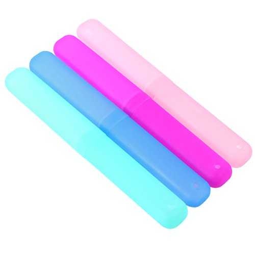SUPVOX 4 unids caja de cepillo de dientes caja de viaje cepillo de dientes de viaje contenedor de almacenamiento portátil (color mezclado)