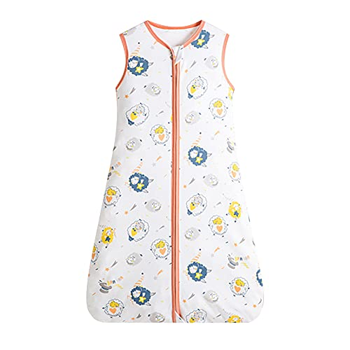 wanhonghui Saco de Dormir Bebés,100% algodón Transpirable, Saco de Dormir de Verano para bebé, Saco de Dormir para bebé Unisex para Bebé