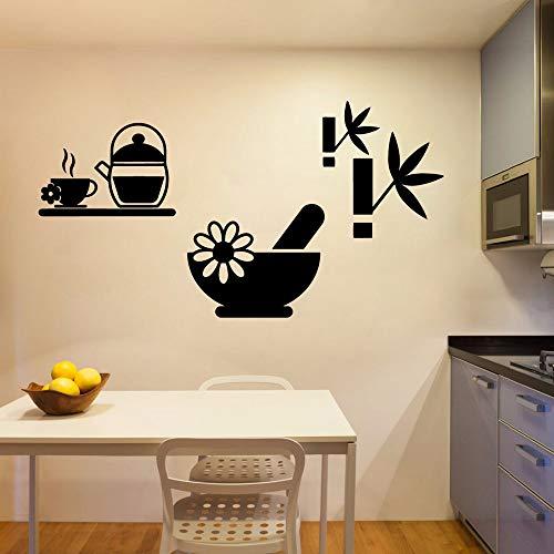 Sanzangtang muurstickers voor thee, decoratie voor thuis, keuken, slaapkamer, waterdicht, decoratieve vinylstickers