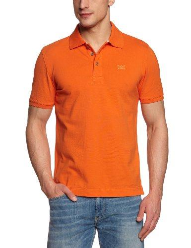 TOM TAILOR Polo Team Herren Poloshirt 15123020013/new basic Orange (3229  celosia orange) XS