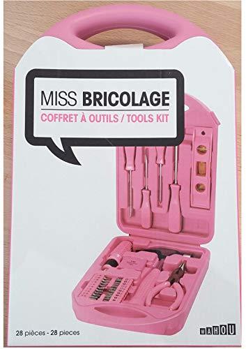barbacado Werkzeugkasten Rosa für Damen, Geschenk Damen, bricoleuse