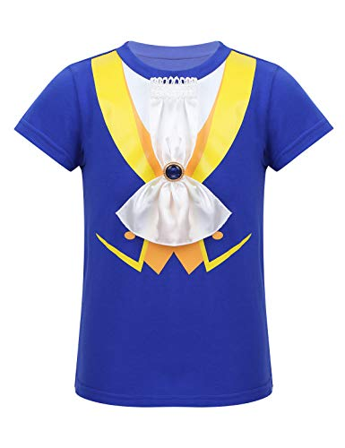 MSemis Disfraz Príncipe Gastón para Bebés Niños Cosplay Bella y Bestia Camiseta Estampado 3D Disfraces Niños Halloween Navidad Fiesta Cumpleaños Azul 3 Años