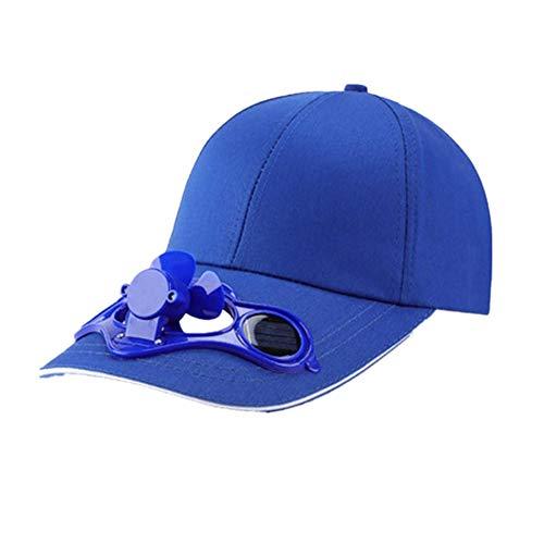 XCSM Sombrero de Ventilador de energía Solar Gorra de Ventilador de refrigeración al Aire Libre de Verano para Pesca Golf Béisbol Deportes Transpirable Unisex Mujeres Hombres Gorras de béisbol