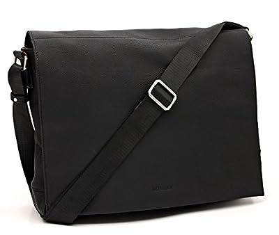 """Bovari Messenger en Cuir Sac Bandoulière Sac Porté Épaule Sacoche pour ordinateur portable max. 15.6"""" Porte-documents - 39x31x9cm - Model Metz - Limited Premium Edition –"""