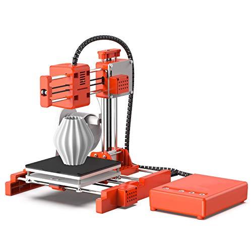Junenoma 3D Stampante 100X100X100mm Mini Formato di Stampa con PLA Filamento-10 Metri di Colore Bianco, Magnetico Rimovibile Piastra Fai da Te Progetti di Stater Kit per la Scuola, Toybox